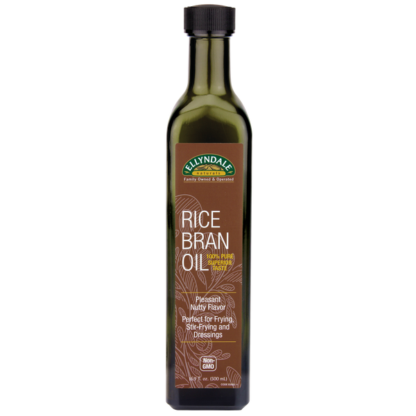 Now Foods Ellyndale Naturals Rice Bran Oil - 16.9 oz. - Health As It Ought to Be