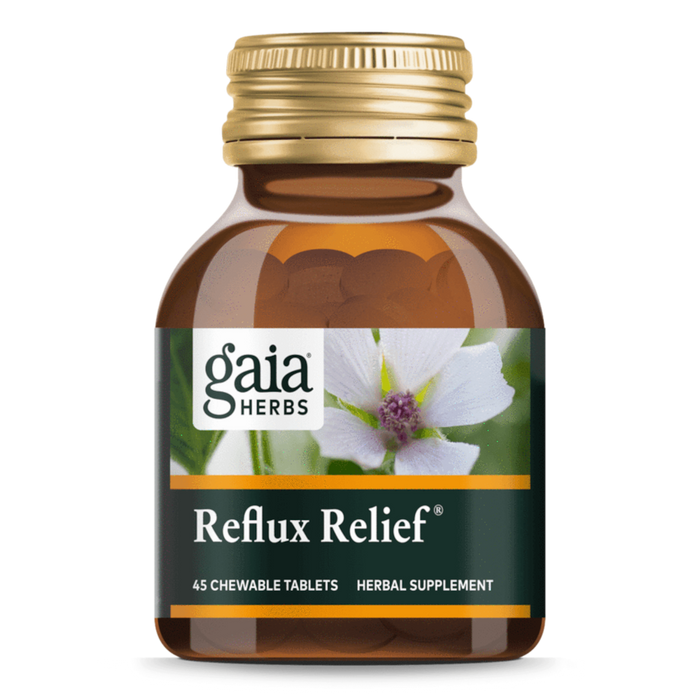Gaia Herbs Reflux Relief®- 45 Chewable Tablets