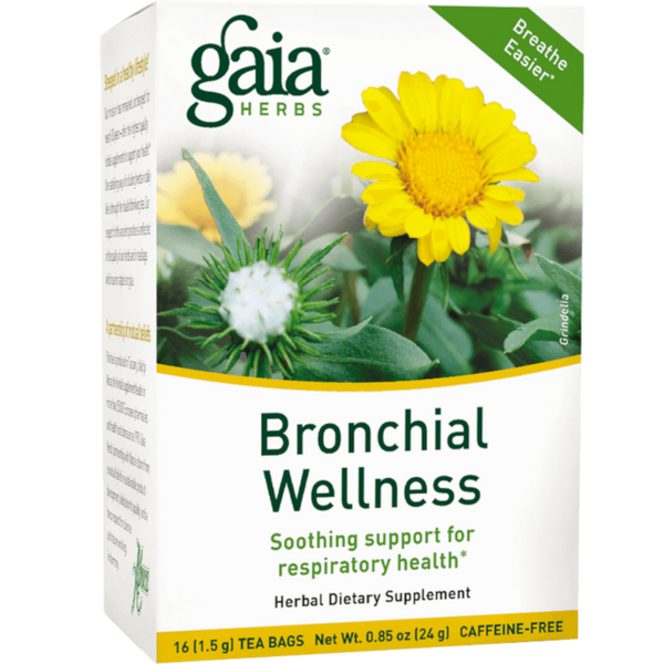 Gaia Herbs Bronchial Wellness Tea - 16 Tea Bags - Health As It Ought to Be