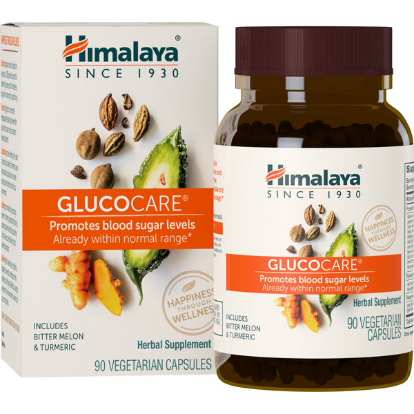 Himalaya Herbal Healthcare Glucocare - 90 Vegetarian Capsules - Health As It Ought to Be