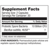 Microbiome Labs HU58 High Potency Bacillus Subtilis - 60 Capsules - Health As It Ought to Be