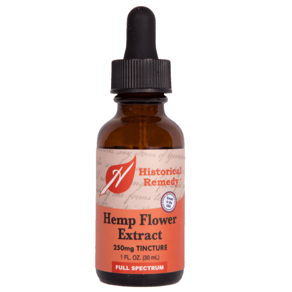 Historical Remedy CBD Tincture Full Spectrum No Flavor-  1 fl. oz. - Health As It Ought to Be