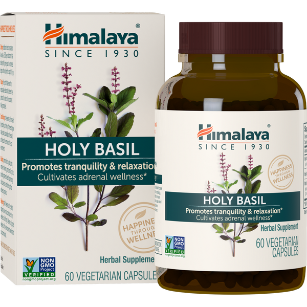 Himalaya Herbal Healthcare Holy Basil 720 mg - 60 Vegetarian Capsules - Health As It Ought to Be