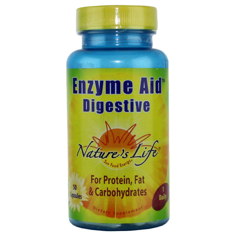 Nature's Life Enzyme Aid Digestive - 50 Capsules - Health As It Ought to Be