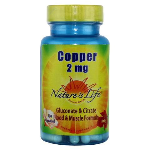 Nature's Life Copper 2mg - 100 capsules