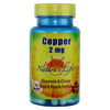 Nature's Life Copper 2 mg - 100 Capsules - Health As It Ought to Be