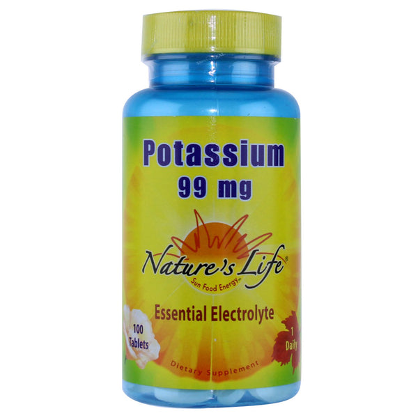 Nature's Life Potassium 99 mg - 100 Tablets - Health As It Ought to Be