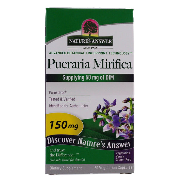 Nature's Answer Pueraria Mirifica 150 mg (DIM 50mg) - 60 Vegetarian Capsules - Health As It Ought to Be