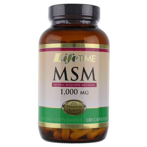 Life Time MSM 1000mg - 180 Capsules
