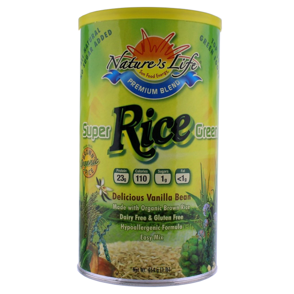Nature's Life Super Green Rice Protein Powder - 1 lb. - Health As It Ought to Be