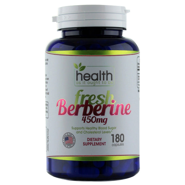HAIOTB Berberine 450 mg - 180 Capsules - Health As It Ought to Be
