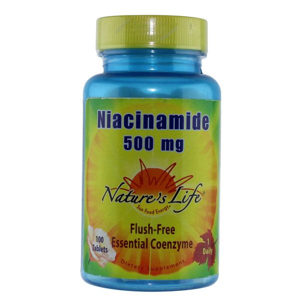 Nature's Life Niacinamide 500 mg - 100 Tablets - Health As It Ought to Be