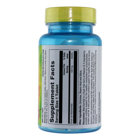 Natures Life Niacinamide 500mg - 100 Tablets