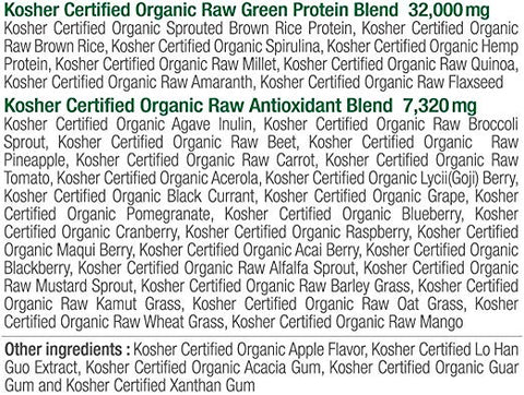 Juvo Raw Green Protein - 480 g - Health As It Ought to Be