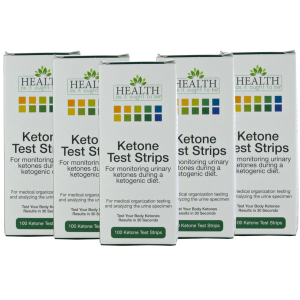 5 Pack of HAIOTB Ketox Ketone Test Strips - 100 Ketone Strips per Box