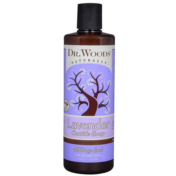Dr. Woods Castile Liquid Lavender Soap - 16 fl oz. - Health As It Ought to Be