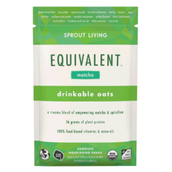 Sprout Living Equivalent Drinkable Oats Matcha - 1.7 oz.