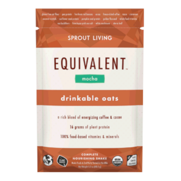 Sprout Living Equivalent Drinkable Oats Mocha - 1.7 oz.