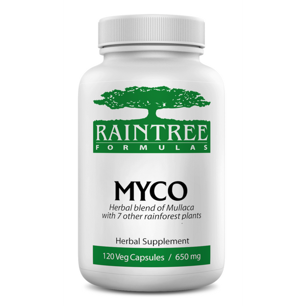 RainTree Formulas or Rainforest Pharmacy MYCO 650 mg - 120 Vegetarian Capsules - Health As It Ought to Be