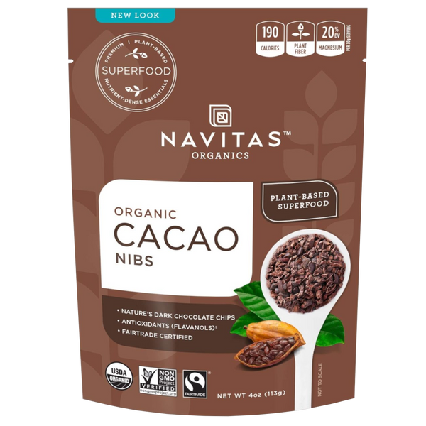 Navitas Organics Cacao Nibs - 4 oz. - Health As It Ought to Be