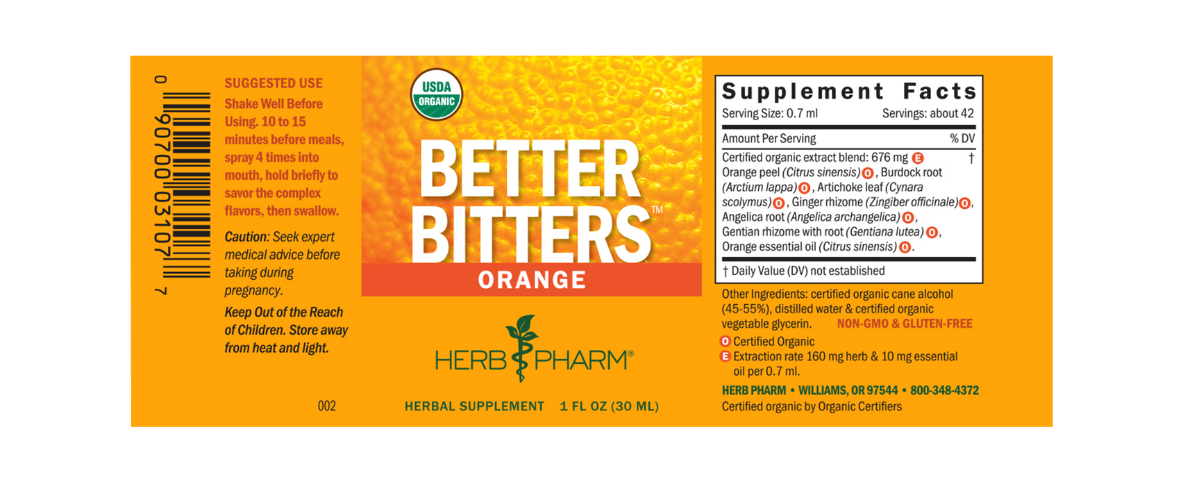 Herb Pharm Better Bitters:™ Orange - 1 fl. oz. - Health As It Ought to Be
