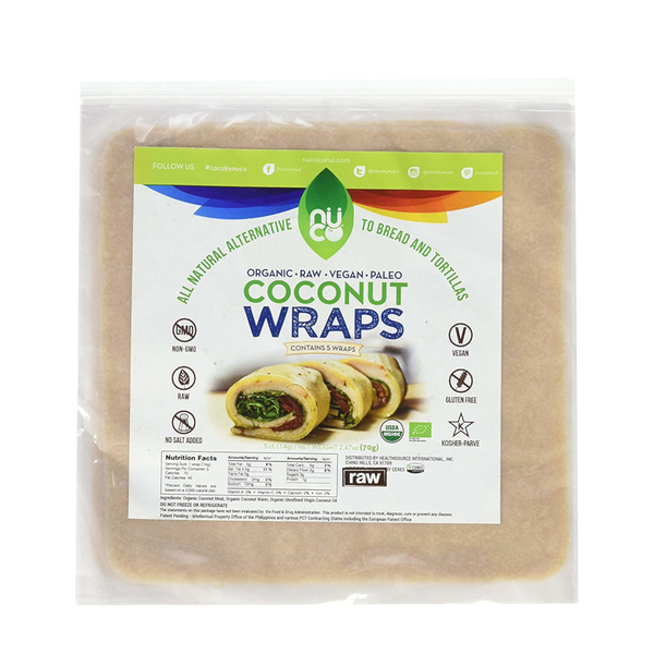 Nuco Organic Coconut Wraps Original - 5 Wraps - Health As It Ought to Be