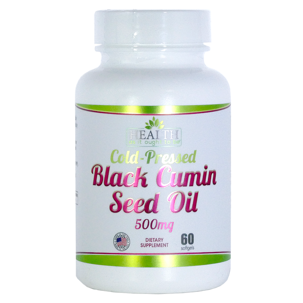 HAIOTB Black Cumin Seed Oil 500 mg - 60 Softgels - Health As It Ought to Be