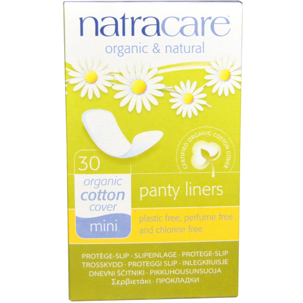 Natracare Mini Panty Liners - 30 Liners - Health As It Ought to Be