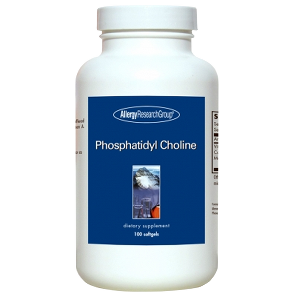 Allergy Research Group Phosphatidyl Choline - 100 Softgels - Health As It Ought to Be