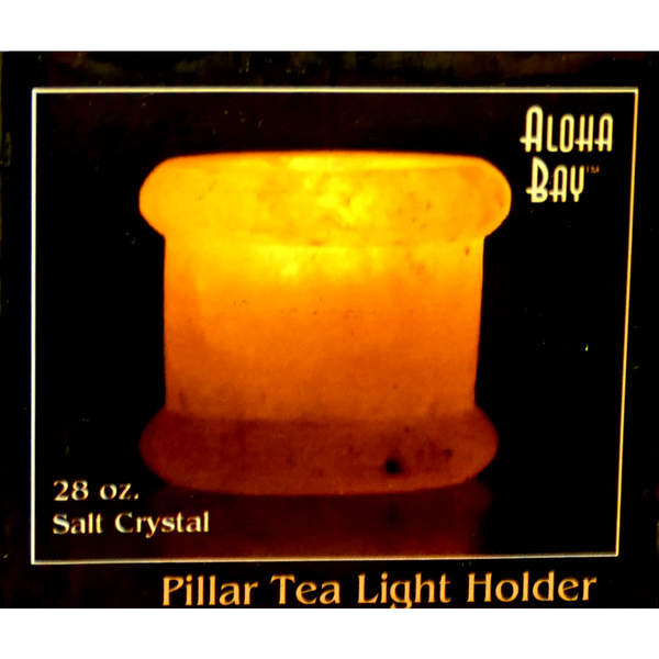 Aloha Bay Salt Pillar Tea Light Holder - Health As It Ought to Be