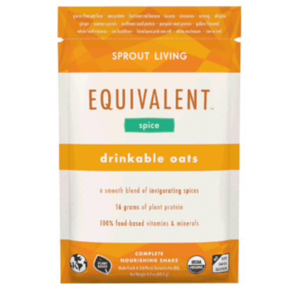 Sprout Living Equivalent Drinkable Oats Spice Single Serving - 1.7 oz.