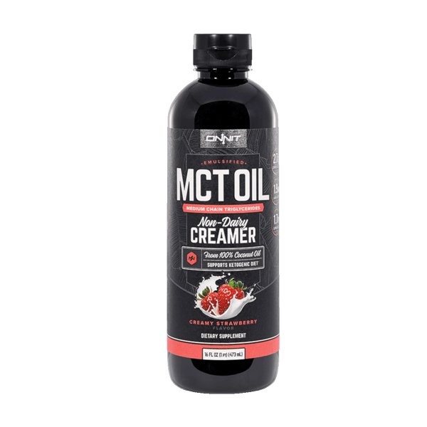 Onnit Emulsified MCT Oil, Creamy Strawberry - 16 fl oz.