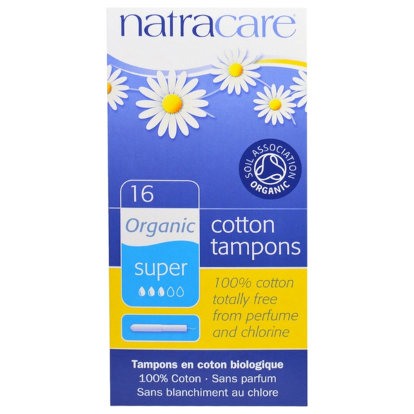 Natracare Organic Cotton Tampons, Super- 16 Tampons - Health As It Ought to Be
