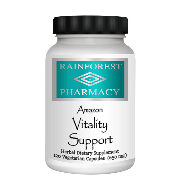 RainTree Formulas or Rainforest Pharmacy Amazon Vitality 650 mg - 120 Vegetarian Capsules