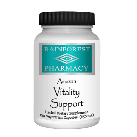 RainTree Formulas or Rainforest Pharmacy Amazon Vitality 650 mg - 120 Vegetarian Capsules - Health As It Ought to Be