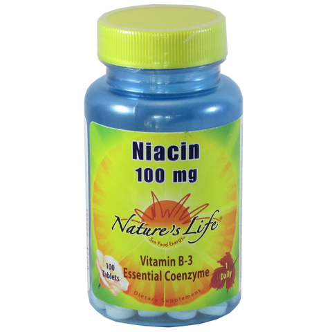 Nature's Life Niacin 100 mg - 100 Tablets - Health As It Ought to Be