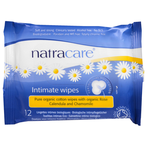 Natracare Organic Intimate Wipes - 12 Wipes - Health As It Ought to Be