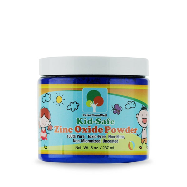 Raise Them Well Kid-Safe Zinc Oxide Powder - 8 oz. - Health As It Ought to Be