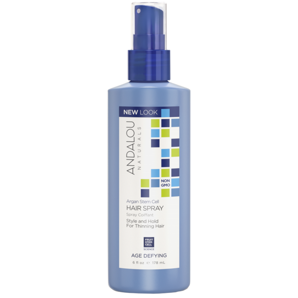 Andalou Naturals Argan Stem Cell Age Defying Hair Spray - 6 fl oz. - Health As It Ought to Be