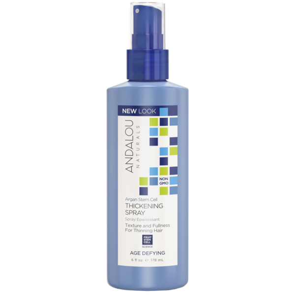Andalou Naturals Argan Stem Cell Age Defying Thickening Spray - 6 fl oz. - Health As It Ought to Be