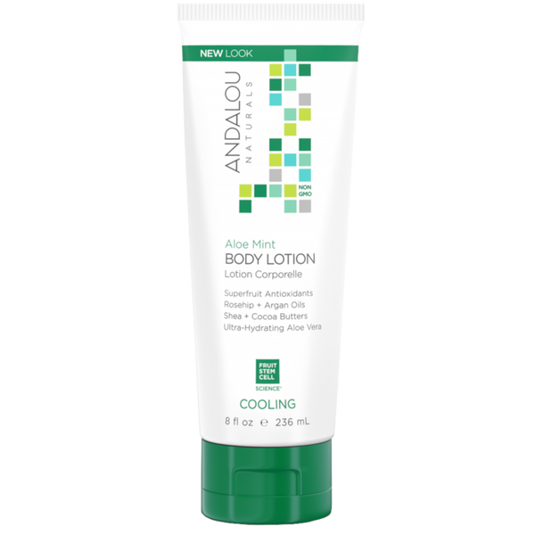 Andalou Naturals Aloe Mint Cooling Body Lotion - 8 fl oz. - Health As It Ought to Be