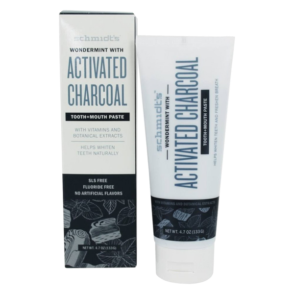 Schmidt's Activated Charcoal with Wondermint Tooth + Mouth Toothpaste - 4.7 oz. - Health As It Ought to Be
