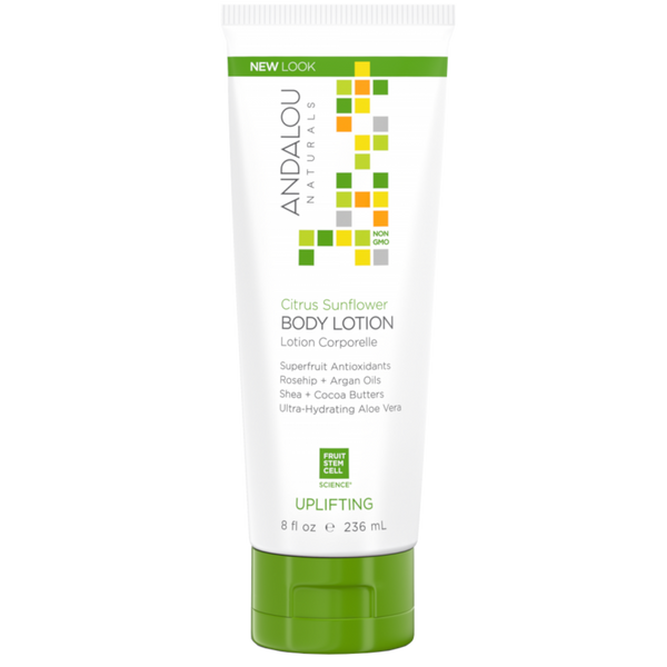 Andalou Naturals Citrus Sunflower Uplifting Body Lotion - 8 fl oz. - Health As It Ought to Be
