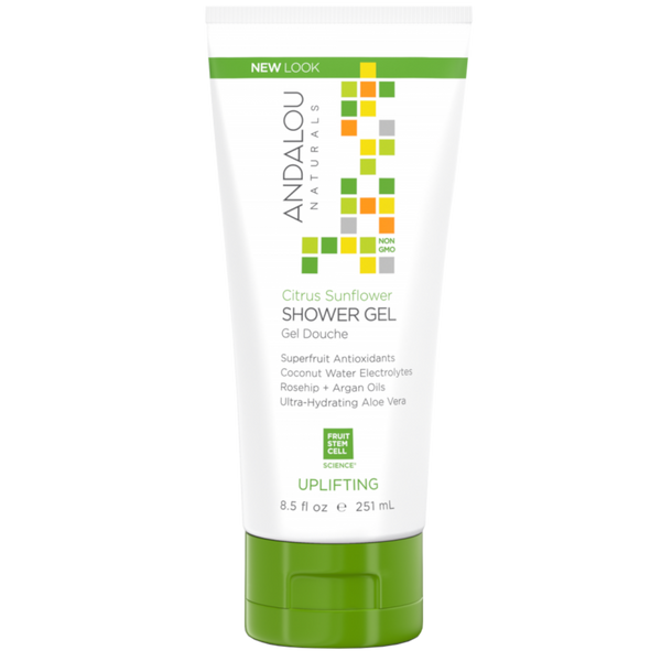 Andalou Naturals Citrus Sunflower Uplifting Shower Gel - 8.5 fl oz. - Health As It Ought to Be