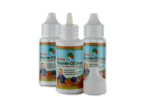 Raise Them Well Baby Vitamin D3 and K2 Drops for Ultimate Bone and Teeth Health - 365 Drops - Health As It Ought to Be