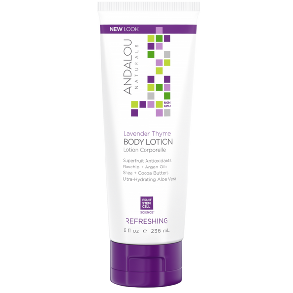 Andalou Naturals Lavender Thyme Refreshing Body Lotion - 8 fl oz. - Health As It Ought to Be