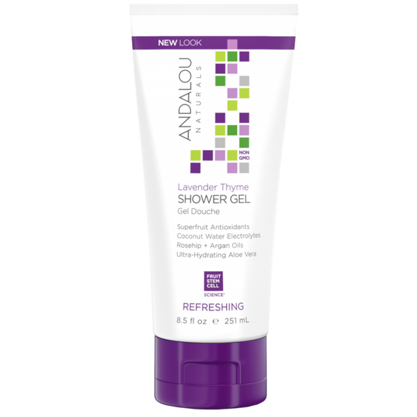 Andalou Naturals Lavender Thyme Refreshing Shower Gel - 8.5 fl oz. - Health As It Ought to Be