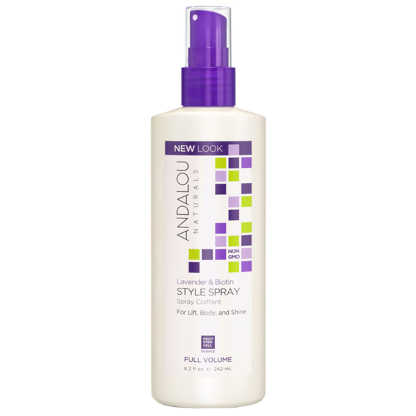 Andalou Naturals Lavender & Biotin Full Volume Style Spray - 8.2 fl oz. - Health As It Ought to Be