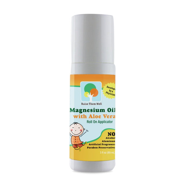 Raise Them Well Kid Safe Calming Magnesium Oil Roll-On with Aloe Vera - 89 ml