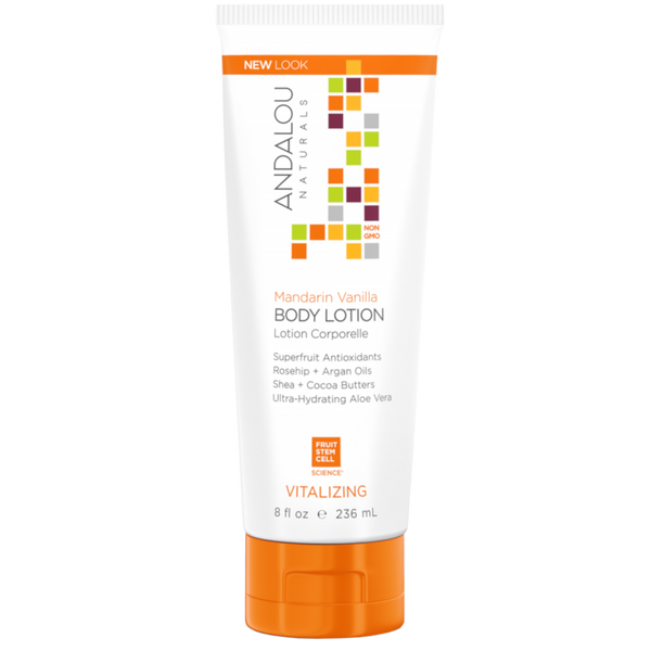 Andalou Naturals Mandarin Vanilla Vitalizing Body Lotion - 8 fl oz. - Health As It Ought to Be